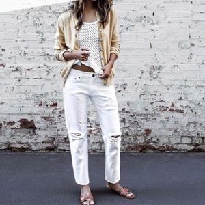 Sincerely Jules Distressed White Jeans